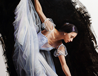 Ballet Original Oil on Canvas