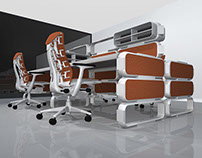 1504 Two workspace desk designs