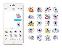Facebook & Line Messenger Sticker Set - Cosmic Stranger