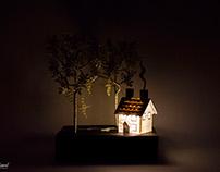 Miniature Scene on Book - Book Sculpture