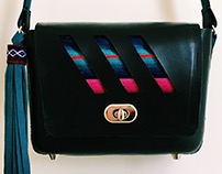 MARTA -molded leather cross-body bag