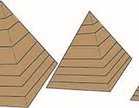 a pyramid on illustrator
