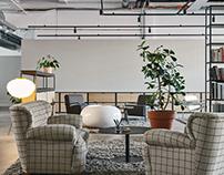 Helsinki bread factory turned into beautiful office.