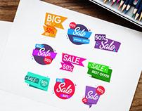 Free Big Sale Banner Vector Set