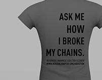 Addiction Program promo video + tshirts