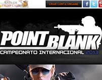 Hotsite Campeonato PBIC 2013 - Point Blank