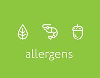 Food allergens and diet