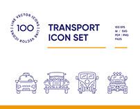 Transport Line Icon Set