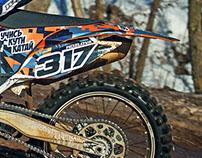 KTM 250 graphic design
