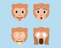 Monkey Emoji Icons