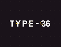 Type-36 - Animated Typeface