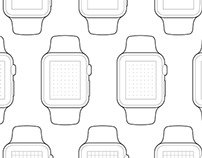 Apple Watch Paper Wireframes