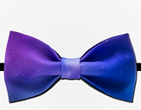 Design of male and woman bow tie