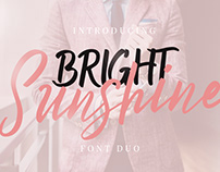 Bright Sunshine Font Duo (Free Download)