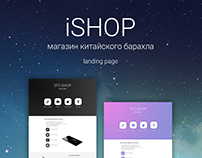 Landing page for the store