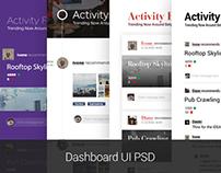Dashboard UI PSD