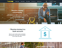How to receive money landing page