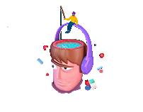 3D designer's head