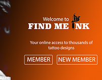 Web Design Project: Find Me Ink concept