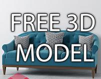 3D MODEL SOFA FREE