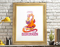 Bookdragon illustration