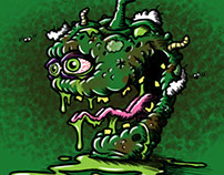 """Pungent Pepper"" Vegetable Lowbrow Cartoon Character"