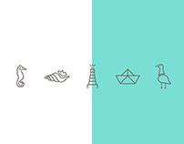 símbolos do mar