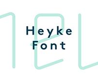 Heyke Typeface