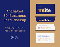 Animated 3D Business Card Mock Up