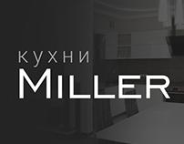 Landing page kitchen furniture «Miller»