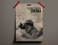 "UNFINISHED ""Directores en Guerra"" Docu. Movie Poster"