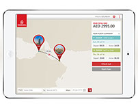 Emirates iPad App Concept for Skywards member