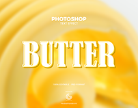 Free Butter Photoshop Text Effect