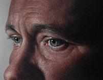 Photorealistic oil painting of my Pa.