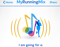 MyRunningMix Application Design