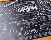 CONGUSTO - Chalkboards for a Culinary Arts School