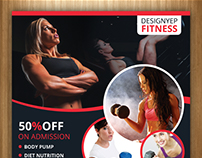 Free Fitness Club Flyer PSD Template