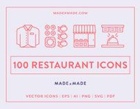 Line Icons – Restaurant