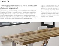 Furniture manufacturing company UK - branding, copy