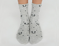 Panda socks for OYSHO A/W 17 collection
