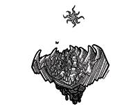 Lovecraftian Isometric Illustrations