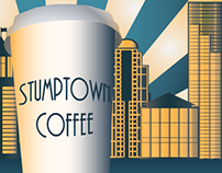 Stump town Coffee Ads