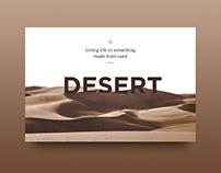 UI Challenge 07 - Desert
