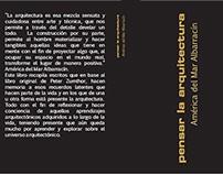 2014-2- TEORÍA U.I. INTERVENCIÓN-Pensar la Arquitectura