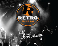 Menu design for Retro Music Bar