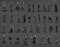 Character / Creature Thumbnails for Horror Game