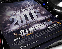 Roof Top New Year Party Flyer Template
