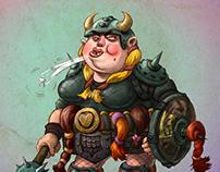 URSULA - The Viking Roller Derby Girl