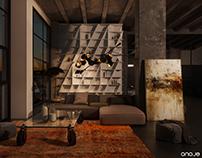 the concept of luxury living - night scene