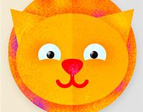 Cats. Illustration. Icon Design.